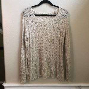 Nurture brand  crochet sweater w/ metallic